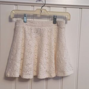 Cream lace soft skater skirt
